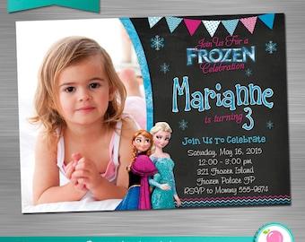 FROZEN INVITATION, Frozen Birthday Invitation, Frozen Party Invitation, Frozen Printable Invitation, Frozen DIY Invitation,