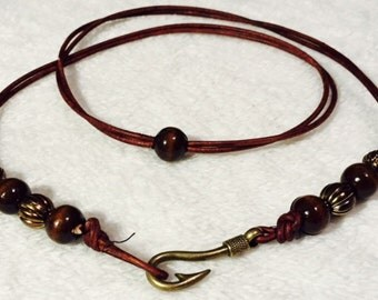 Beaded Leather Cord Wrap Bracelet