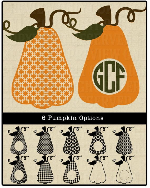 Pumpkin svg halloween svg houndstooth pumpkin pumpkin for Monogram pumpkin templates