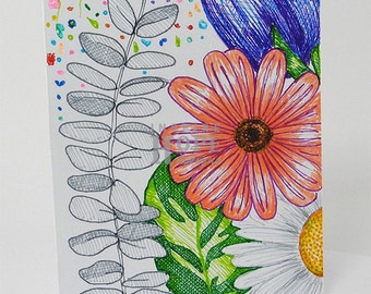 Flowers Sketch Note Card