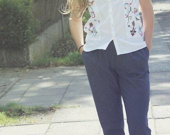 Sleek Cotton Trousers