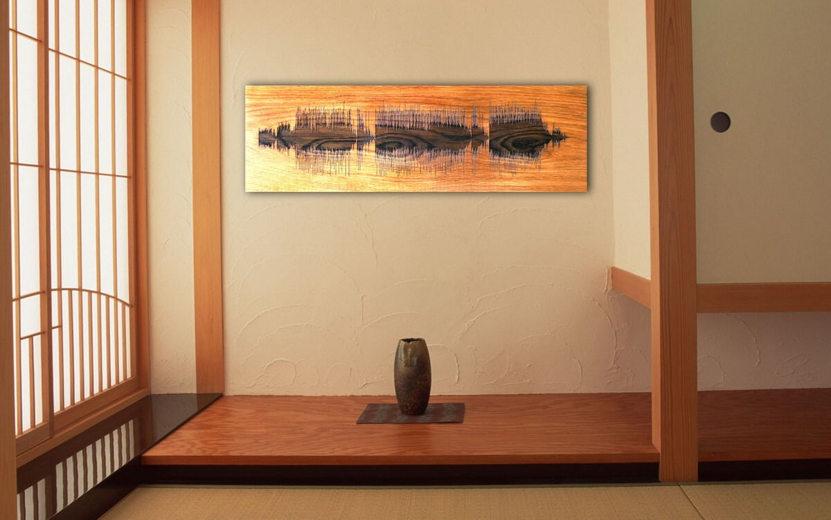Personalized Wood Wall Art soundwave wall art custom wood burned art personalized wooden