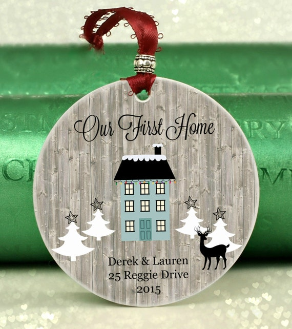 Housewarming Gift Wedding Gift Our First Home By