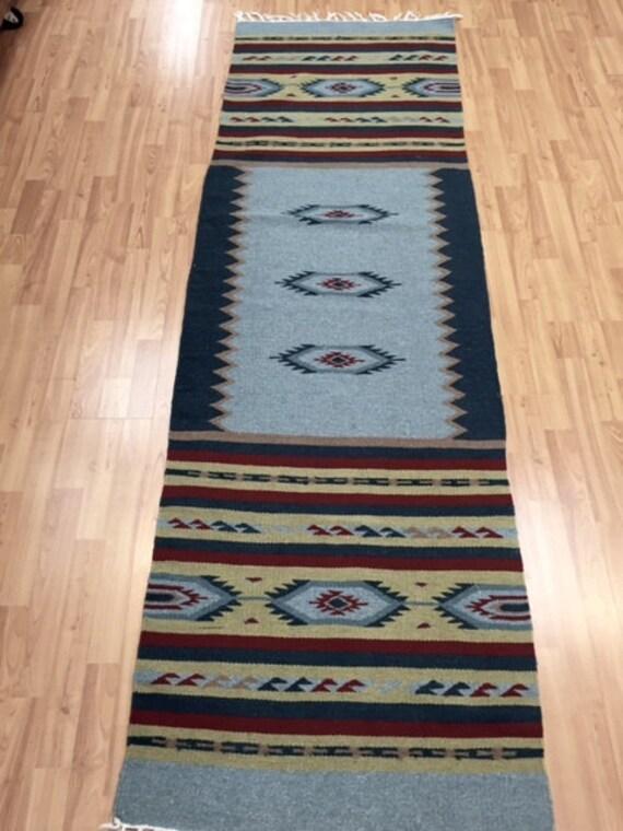 """2'5"""" x 8"""" Native American Navajo Kilim Floor Runner Oriental Rug - Hand Made  - 100% Wool"""