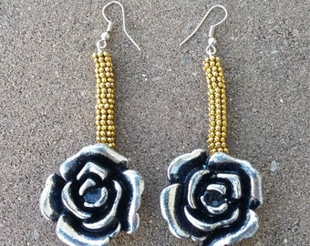 Rose Drop Earrings