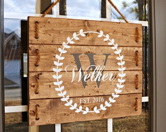 Wedding Gift Last Name Establish- Wedding Established Sign- Wedding Gift- Wood Signs- Front Porch Sign- Personalized Wooden Signs- PRE-ORDER