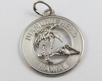 Diamond Head Hawaii Sterling Silver Charm of Pendant