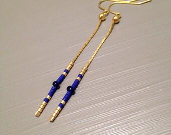 long gold earrings drop dangle earrings simple drop earrings Long Dangle Earrings Geometric Earrings Modern Earrings Boho Chic Earrings