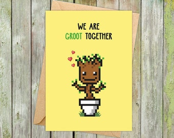 Groot Valentines, Groot Gifts, Valentines Day Card for Him, Valentines Card Funny, Valentine Card Him, Guardians of the Galaxy