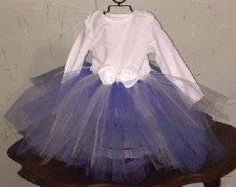 Beautiful Periwinkle Blue and White Tutu