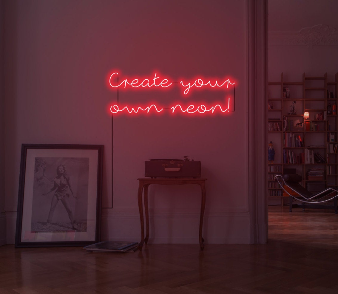 Custom neon sign design your own neon customisable neon for Neon bedroom decor