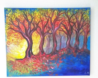 The Shortest Day acrylic painting on canvas original