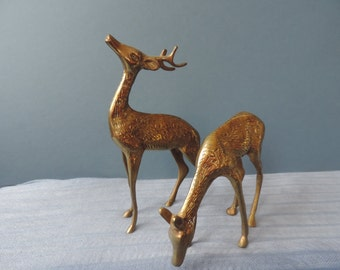 Brass Deer and Buck Vintage