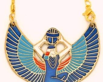 Isis Ancient Egyptian Goddess Pharaoh Pendant 78x63mm