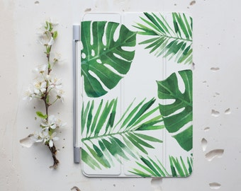 Tropical Leaves Smart Cover iPad Air 2 Case iPad Cover iPad Mini Cover iPad Case iPad 4 Cover iPad Pro Cover Stand iPad Mini Tablet s060