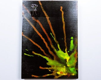 Photo holder memo - Board - Bulletin Board - Klemmboard wooden hand-painted - 13 x 19 cm - communications