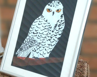Illustration Print - Snowy Owl