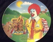 Vintage 1989 MC DONALDS The McNugget Band Plate