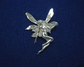 Vintage Sterling Silver Fairy Brooch Pin Not Modern