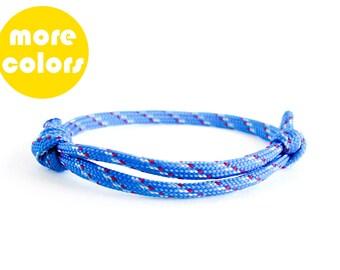 Mens Bracelet, Rock Climbing Jewelry, Mens Anchor Bracelet, Rope Bracelet Unisex