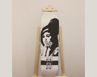 AMY WINEHOUSE recycled skateboard