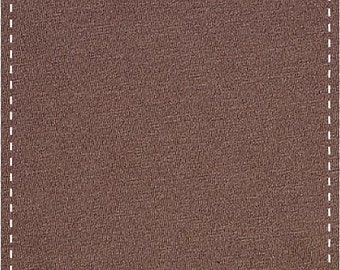 Organic Stretch Jersey Fabric - Brown