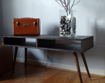 Spring SALE!!!! Mid Century Modern Coffee Table Media Console Atomic Retro Style