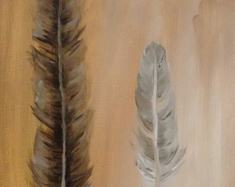 Oil Painting - Two Feathers - 8x10