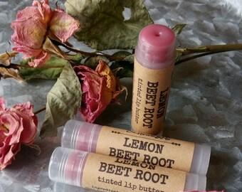LEMON BEET ROOT lip Butter, tinted lip butter, lip balm, lemon beet root lip balm, Chapsticks, lemon lip balm, beet root lip balm