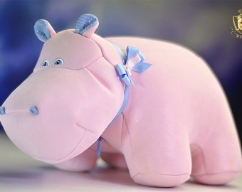 Pink|Suede|Hippo|Birthday|Gift|For Women|Fashion|Luxury Interior toy|Womens Gift|For Her|Home or office decor|Girlfriend|Gift|
