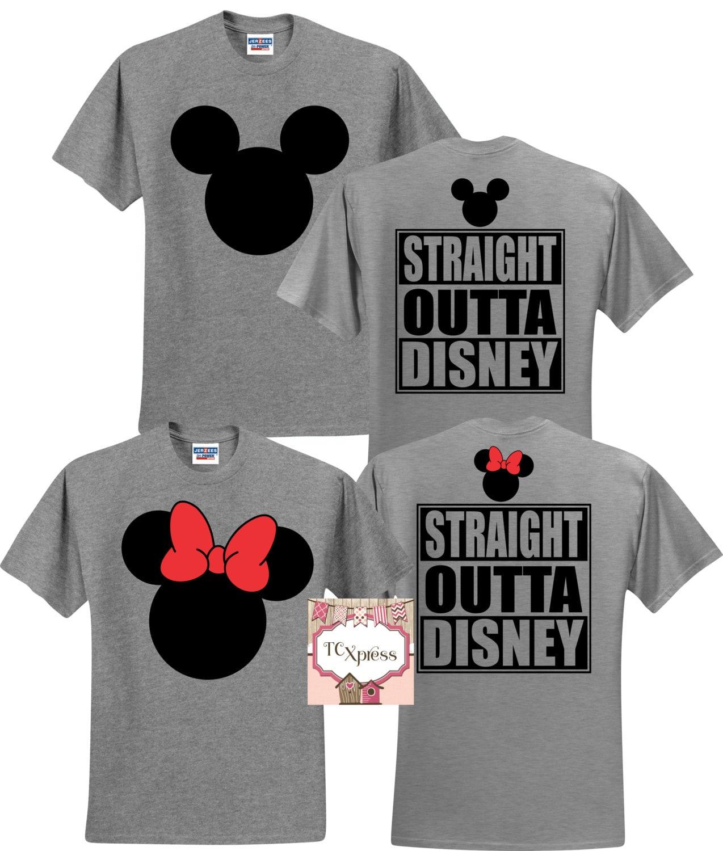 Straight outta disney t shirts disney shirt set disney family for Best online custom shirts