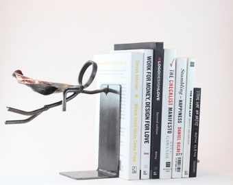 Superhero Bookends   Two Super Hero Stick Figure Bookends   Custom built   FREE SHIPPING