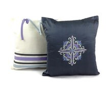 Gray Pillow Cases, Matching Pillowcase Set, Embroidered Pillow Cover, Interior Design Ideas