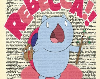 Rebecca! - Catbug Bravest Warriors Vintage Dictionary Page Art Print