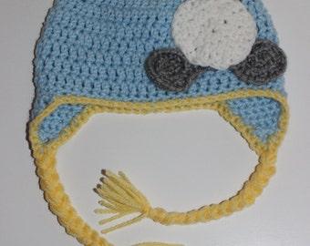 Cinderella Crochet hat. READY TO SHIP!! size 6-9 Months