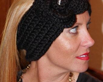 Crochet Headwarmer with Flower