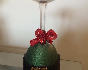 Elf Wine Glass Candle Holder