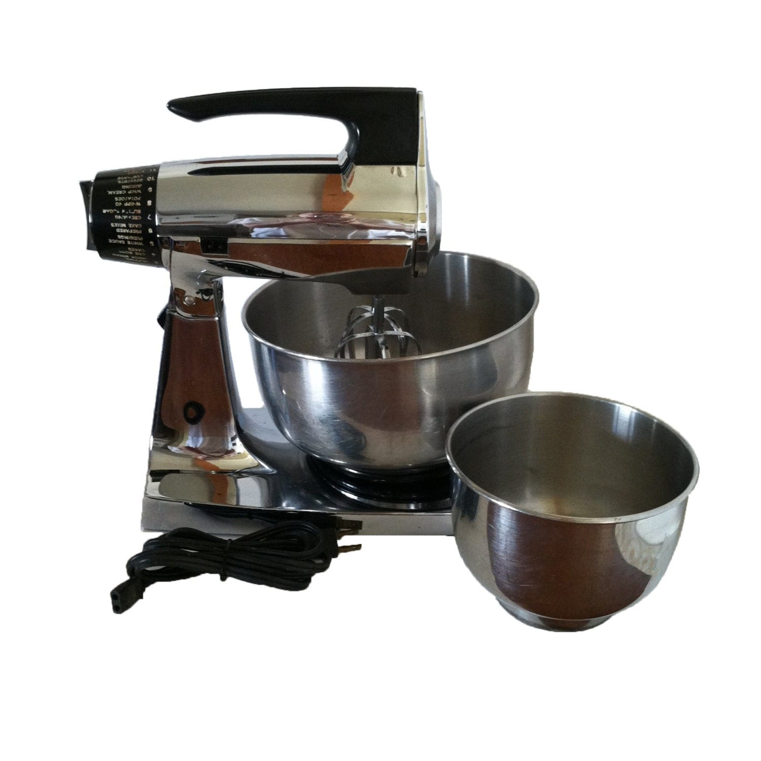 Just Like Home Toy Stand Mixer : Vintage chrome sunbeam mixmaster speed mixer and stand with