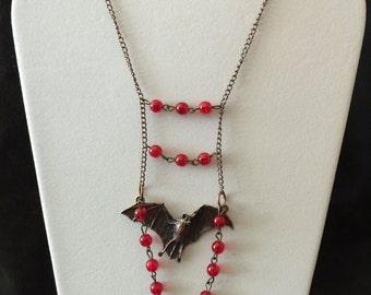 Vampire Bat Necklace (Dracula Inspired)