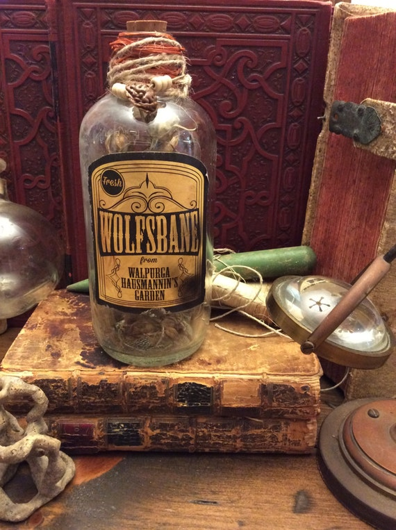 Potion Bottle, Wolfsbane - Witch's Pantry, Halloween Prop (0008)