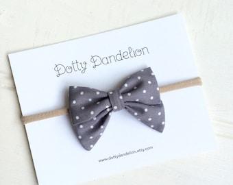 Toddler Headband - Baby Headband - Polka Dot Hairbow