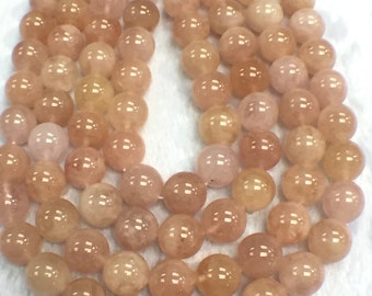 14mm Morganite Round Beads, AAAA Quality Beads , Perfect making-Wholesale price- 40 cm Length