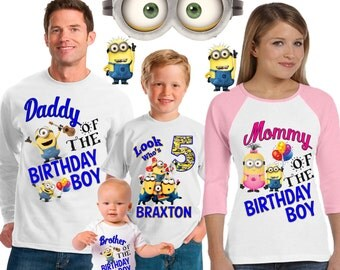 Minion birthday shirt / Minion shirt /family matching shirts/ Minion birthday party shirt /Minion / family shirts/Minions