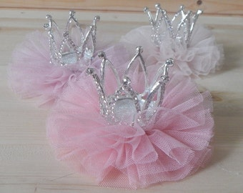 Crown Tulle Hair Clip, Crystal Stone Crown, Princess Crown,Party Crown, Party Hat, Birthday Party Crown, Girl Party Hat, Hair Accessories