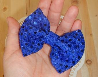 Blue Glitter Bow, Blue Hair Bow, Girl Hair Bow, Baby Hair Bow, Hair Bow, Hair Accessories