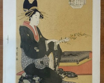 Lithograph after a print Japanese vintage n5