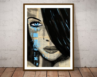 Modern art print, stunning beautiful woman, ideal for living room or bedroom or dining room print