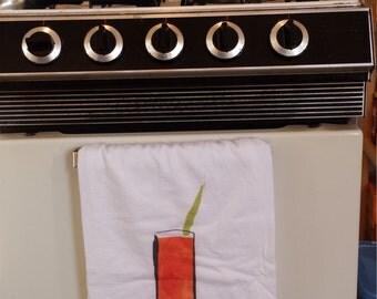 Bloodymary Brunch Towel, Tea Towel, Flour Sack Towel