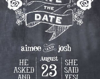 5x7 Save The Date Wedding Invitations