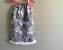 Girls of all ages carousel horses sundress, tunic, top, great print!